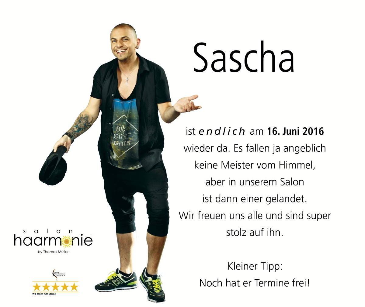 Sascha-wieder-da